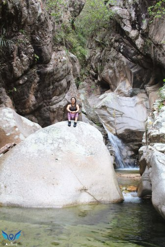 Elvira at Nogalito's Waterfall